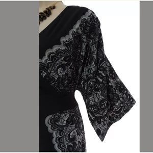 Lane Bryant Dresses - 18/20 2X▪️SEXY SURPLICE LACE PRINT DRESS Plus Size
